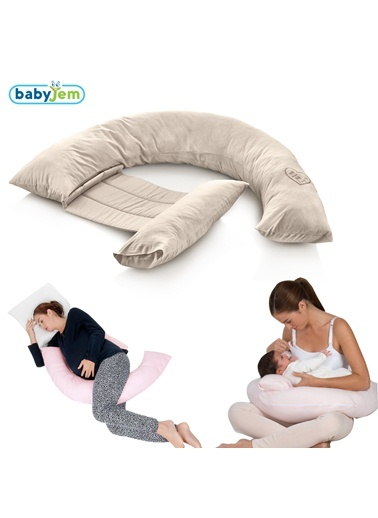 Babyjem Sırt Destekli Hamile Ve Emzirme Yast Taş-Baby Jem